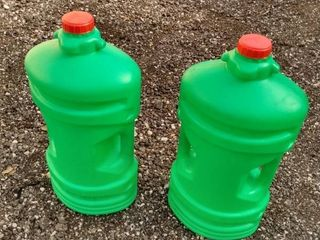2 looks to be 5 gallon plastic containers