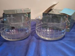 two prelude handcuffs Turkish Crystal bowl in box