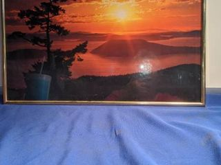 picture of sunset 20x16