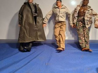 three GI Joe dolls