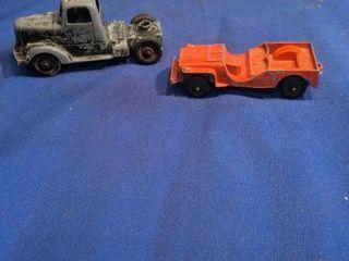 two vintageTootsie toy truck
