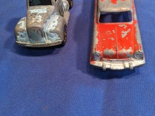 vintage Tootsie toy truck and vintage car
