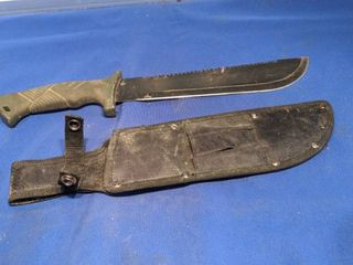 hunting knife and holder