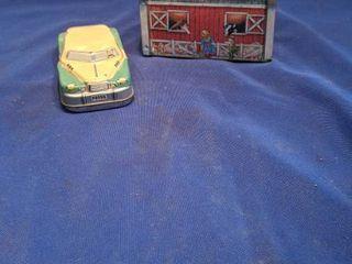 tin car and barn bank