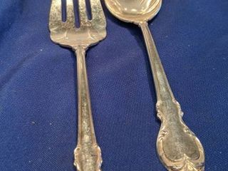 homes and Edwards deep silver salad fork and spoon