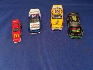 four race cars