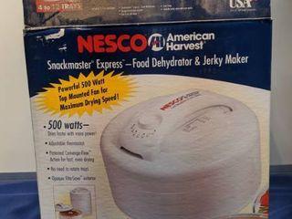 nesco American harvest snackmaster express food dehydrator and jerky maker new inbox box been open