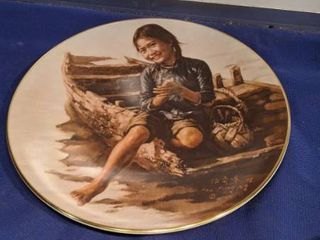 sampan girl plate number 3987 in a limited edition permanent closed in 1980