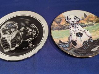two plates limited addition plate of the entitled wee kitten world and good sport plate collection