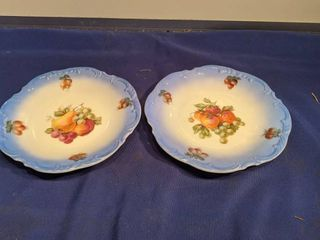 two fruit plates