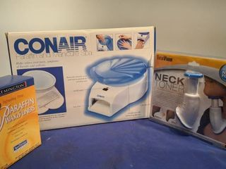 Conair paraffin and manicures spa Neck toner and paraffin wax and liners new inbox