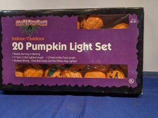 12 pumpkin light indoor outdoor set