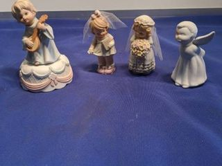 bride and made him honor figurines angel that plays amazing Grace