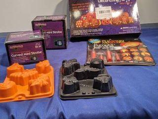 pumpkin decorating kits mini strobe lights and halloween moles