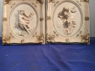 two wall plaques