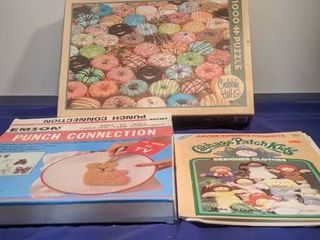 1 000 piece puzzle punch connection and cabbage patch designer clothes