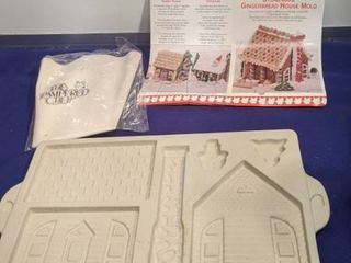 pampered Chef stoneware gingerbread house mold