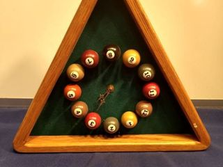 wooden pool ball clock works