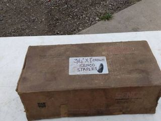 one box of three quarter by one inch crown senko Staples