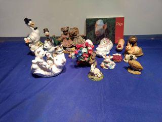 lots of animal miniatures