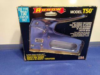 new in box arrow model t50 heavy duty staple gun