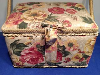 sewing basket with contents