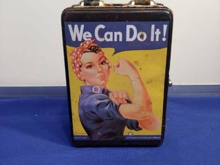 Rosie riveter lunch box we can do it
