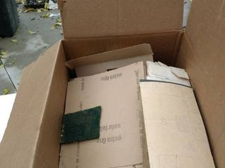 small U Haul box full of sandpapers and few other things some new some used