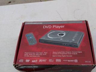durabrand DVD player with remote plugged in pairs on no further testing done