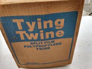 box of split film polypropylene twine