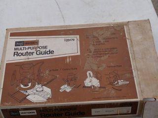 Craftsman multi purpose router guide