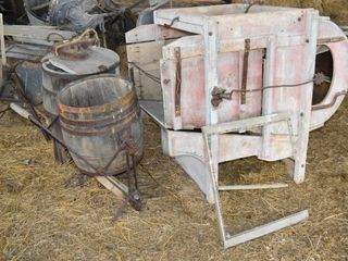 Fanning Mill  Butter Churn   2  Old Washing