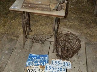 Treadle Sewing Machine Stand  Scale  license