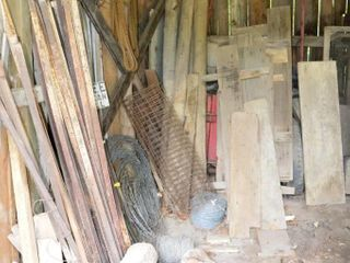 Contents of Storage Shed Bay   Wood and Steel