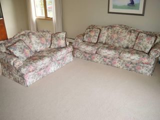 Floral Upholstered Sofa and loveseat