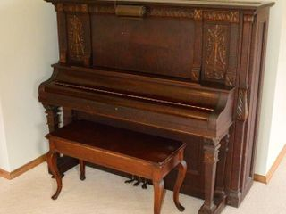 Bell Upright Piano  65  x 28  x 56 h