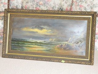Framed Oil on Canvas  47  x 26