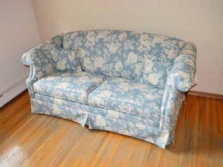 Floral Upholstered Sofa Bed  76  long
