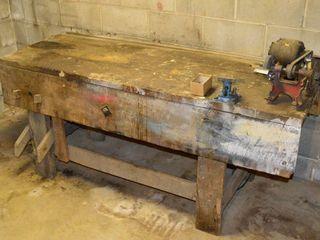 Workbench with Grinder