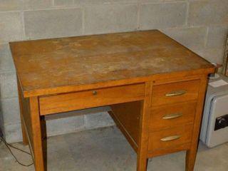 Wooden Desk  42  x 30  x 31 h