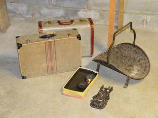Grp  of Suitcases  Cast Match Holder  Etc