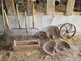 Grp  of Forks  Tractor Seats  Primitives