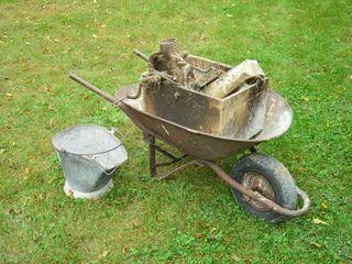 Wheelbarrow  Coal Scuttle  Corn Sheller  etc
