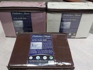 3 Sets Of Ultra Plush 2000 Series Queen Sheet Set