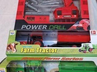 Power Drill Set   Farm Tractor Toys