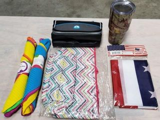 Bag  Cooler  Tumbler  Towels   American Flag