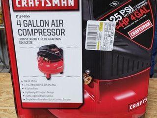 Craftsman 4 gal  3 4 hp  Electric Air Compressor