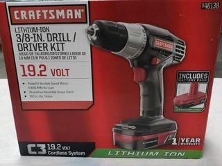 Craftsman lithium Ion 3 8  Drill Driver Kit 19 2V
