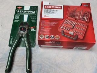 Craftsman Drill   Driving Kit   8  Cutting Pliers
