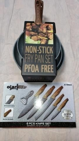 Ozark Mountain Fry Pan   Knife Set